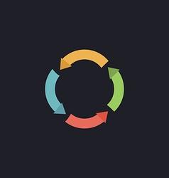 Circle arrows computer symbol vector