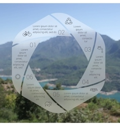 circle eco infographic vector image vector image