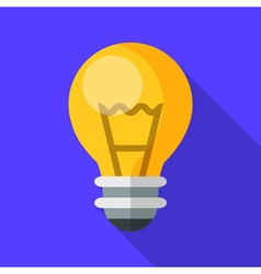 Colorful electric light bulb icon in modern flat vector image