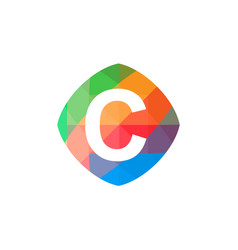 colorful initial c icon vector image vector image
