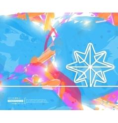 Creative snowflake art vector