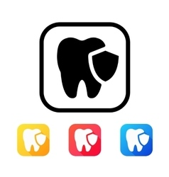 Dental icon in flat style vector image