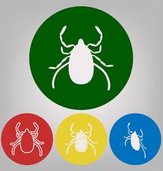 Dust mite sign 4 white vector