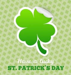 Four-leaf clover sticker vector image