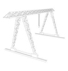 gantry crane wire-frame vector image vector image