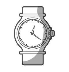 Grayscale silhouette of female bracelet clock vector