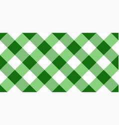 Green and white argyle tablecloth seamless pattern vector