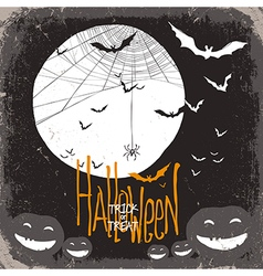 halloween scary scene card vector image