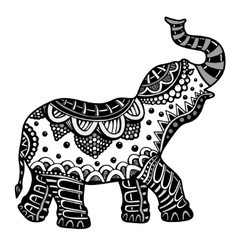 Hand drawn Indian elephant vector image
