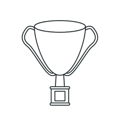 Isolated sport trophy design vector