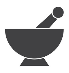 mortar pestle icon vector image vector image