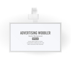 plastic advertising wobbler papper price vector image