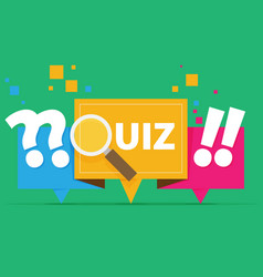 Quiz related concept vector