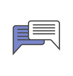 Speech bubble linear icon vector