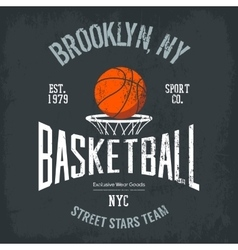 Streetball or urban sport team logo and banner vector image vector image