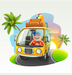 Summer vacation trip vector