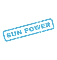 Sun power rubber stamp vector