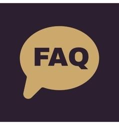 The faq speech bubble icon help symbol flat vector