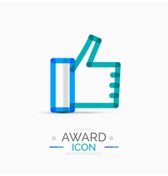 Thumb up icon logo design vector