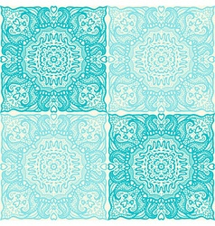 Tiles patterned with ethnic ornament vector image
