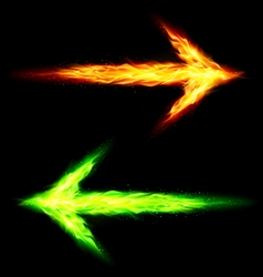 Two fire arrows vector image vector image