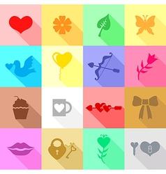 valentine icon flat vector image