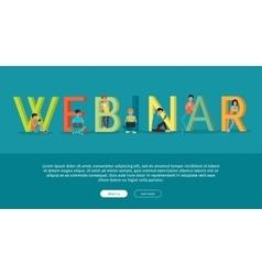 Webinar banner in flat vector