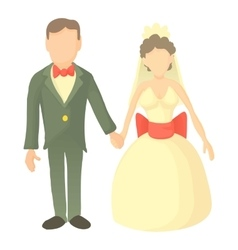 Wedding icon cartoon style vector