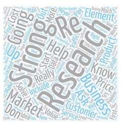 Will your business idea work text background vector