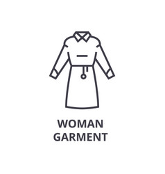 woman garment line icon outline sign linear vector image vector image