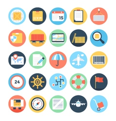 Global Logistics Colored Icons 1 vector image