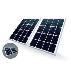 Solar battery vector