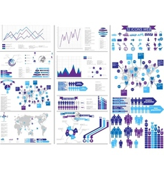 Infographic purple vector