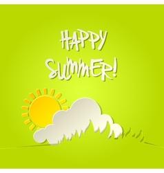 Sunny happy summer bacground card vector