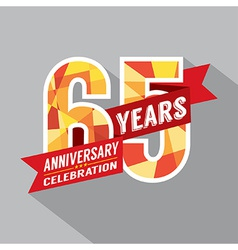 65th years anniversary celebration design vector