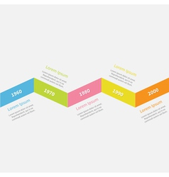 Timeline infographic zigzag ribbon line and text vector