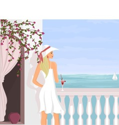 Mediterranean vacation vector