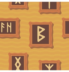 Seamless background with runes vector