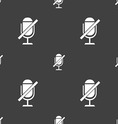 No microphone sign icon speaker symbol seamless vector