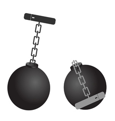 Prison ball cartoon vector