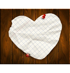 Note papers with a paper heart background vector