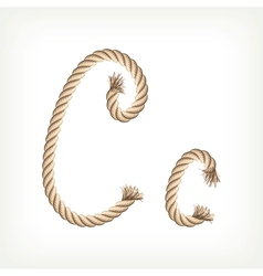 Rope alphabet letter c vector