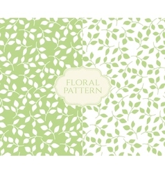 Seamless floral patterns set vintage background vector