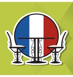 Icon design of france vector