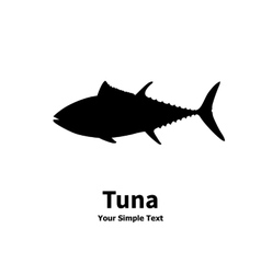A silhouette of a tuna vector