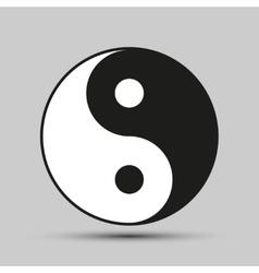 Ying yang balance symbol vector image