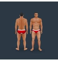 Men in briefs vector