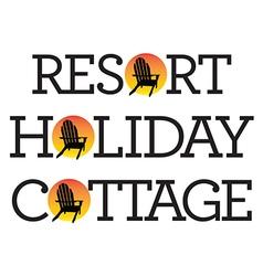 Adirondack chair holiday graphics vector