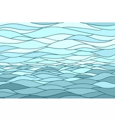 Abstract background with stylized wave and sky vector image vector image