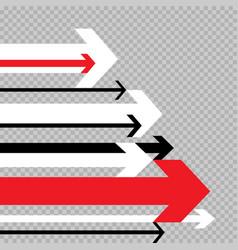 Arrows move to success transparent vector